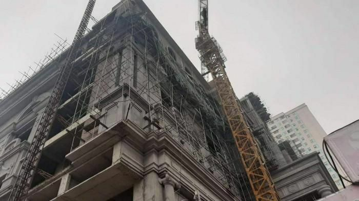 Sập giàn giáo xây dựng trung tâm đá quý ở Phú Thọ: 1 nạn nhân đã tử vong