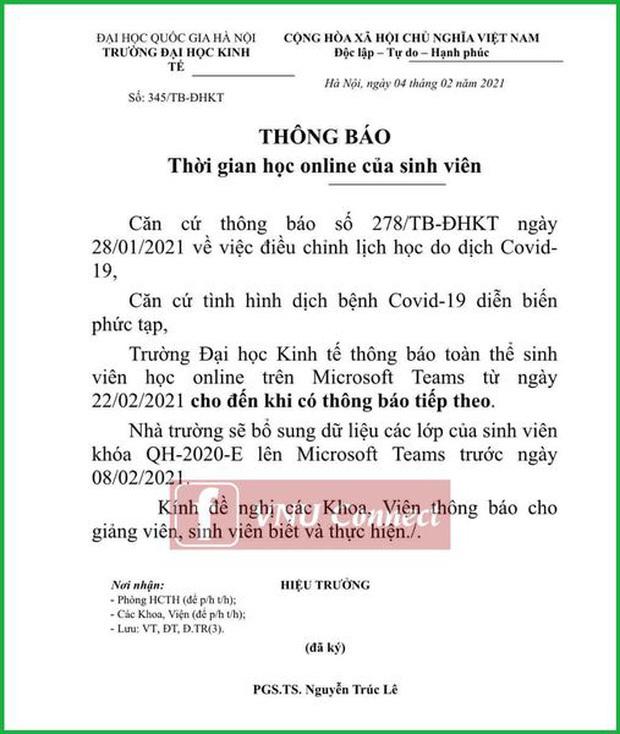 Trường ĐH đầu tiên cho sinh viên học online sau Tết Nguyên đán đến khi có thông báo mới