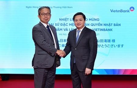 Đại sứ Nhật Bản thăm và làm việc tại VietinBank