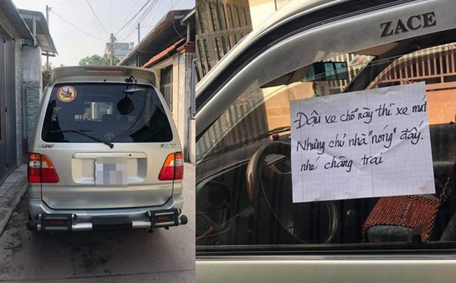 Ô tô đỗ chắn kín cửa, chủ nhà viết tờ giấy 'dằn mặt nhẹ' khiến tài xế đỏ mặt