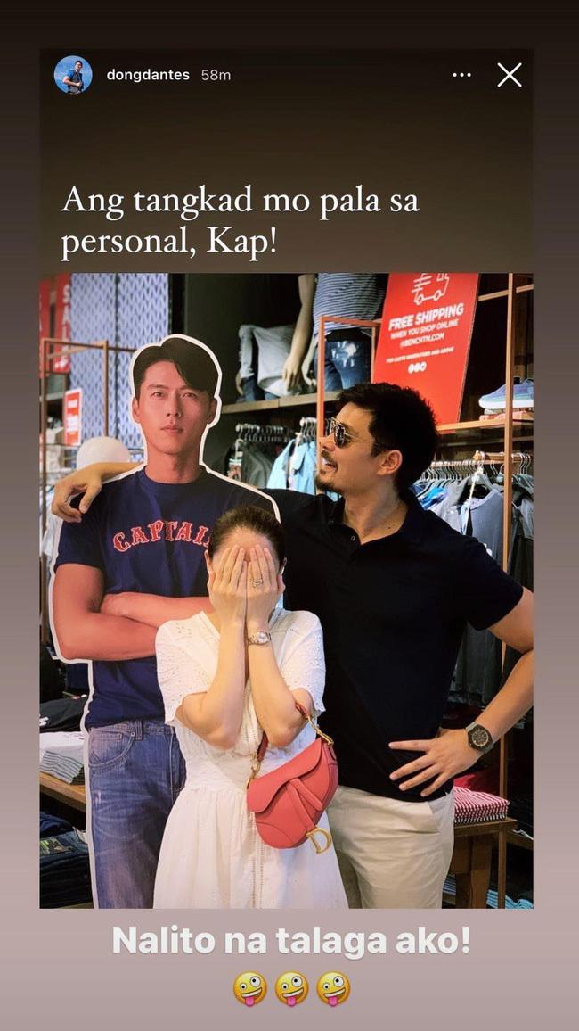 """Phản ứng hài hước của chồng """"mỹ nhân đẹp nhất Philippines"""" khi vợ si mê Hyun Bin"""