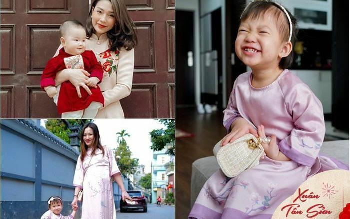 Đầu xuân, vợ con của giám khảo Rap Việt gây chú ý: Người bầu vượt mặt vẫn xinh