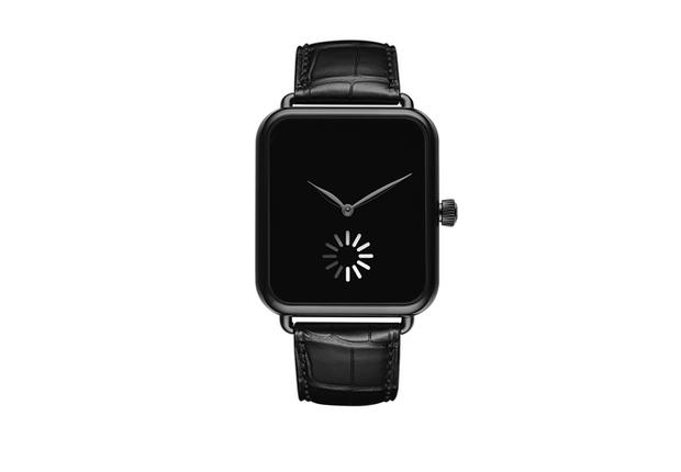 """Mẫu đồng hồ cơ giá hơn 700 triệu đồng này có thiết kế y hệt Apple Watch, dùng icon """"loading wheel"""" trên iOS làm kim giây để khịa nhà Táo cho vui"""