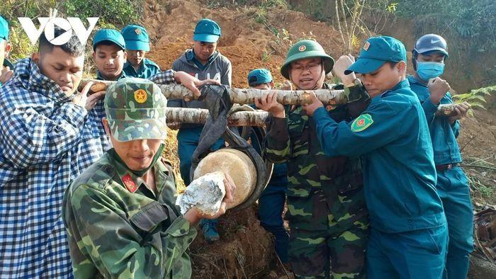 Quảng Nam hủy nổ thành công quả bom nặng 200 kg