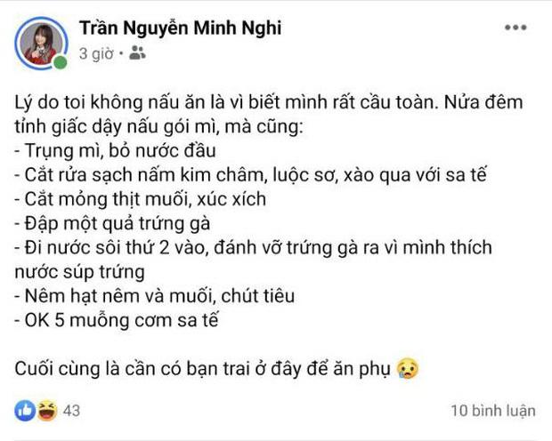 Minh Nghi tiết lộ việc không nấu ăn, tưởng do bận nhưng hoá ra là vì… lý do đặc biệt này!