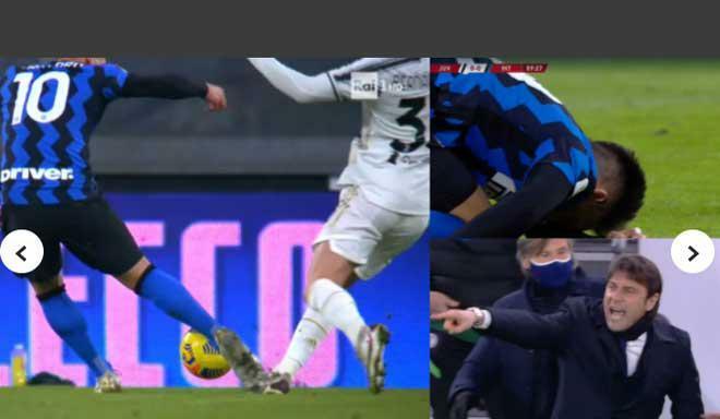 Tranh cãi Juventus thoát penalty trước Inter Milan: HLV Conte nổi nóng chĩa ngón tay thối