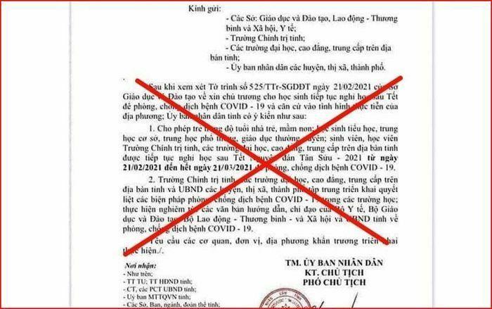 Nam sinh THCS làm giả văn bản cho học sinh toàn tỉnh Quảng Nam nghỉ học 1 tháng