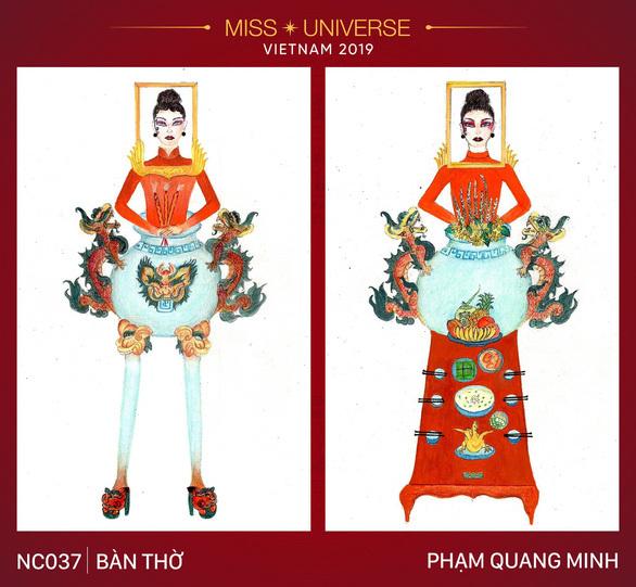 """Thiết kế """"Bàn thờ"""" cho quốc phục của Việt Nam tại Miss Universe 2019?"""