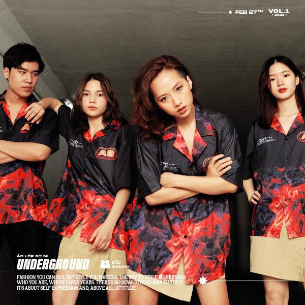 GẤU Uniform: Phá cách trong BST áo lớp sơ mi hoàn toàn mới – Underground
