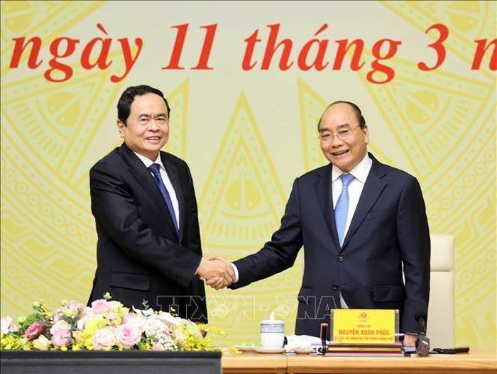 Thủ tướng chủ trì Hội nghị đánh giá việc thực hiện Quy chế phối hợp công tác của Chính phủ và Ủy ban Trung ương MTTQ Việt Nam