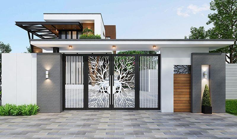 Những mẫu cổng nhà đẹp ở nông thôn bạn có thể tham khảo