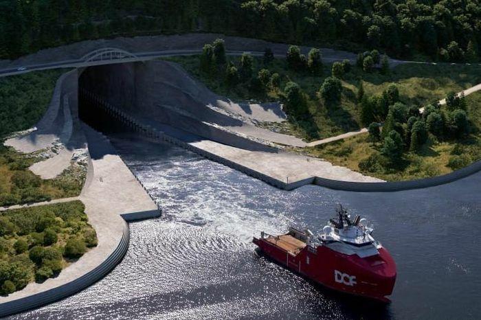 Na Uy xây đường hầm tàu thủy đầu tiên trên thế giới