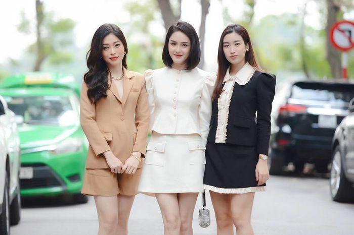 Đỗ Mỹ Linh, Hoàng Anh, Phương Nga đọ sắc xinh đẹp tại họp báo Tiền Phong Marathon 2021