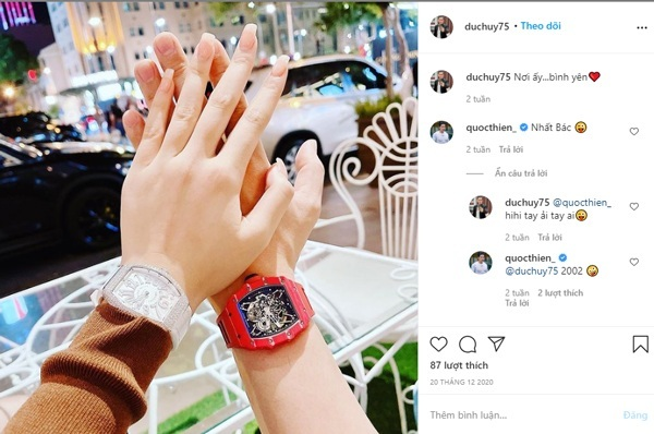 Tình mới kém 27 tuổi của chồng cũ Lệ Quyên sở hữu đồng hồ hàng trăm triệu đồng