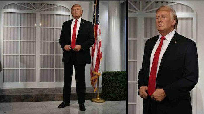 """Bảo tàng Mỹ phải cất tượng sáp của cựu Tổng thống Trump vì liên tiếp bị """"đấm"""""""