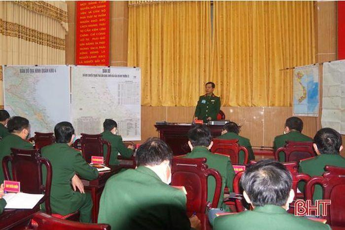 Bộ CHQS Hà Tĩnh luyện tập trạng thái sẵn sàng chiến đấu năm 2021