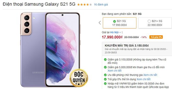 Top smartphone giảm giá nhiều nhất dịp 8/3