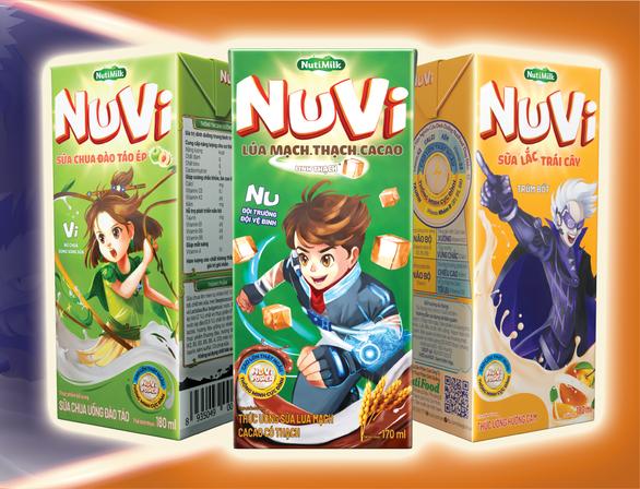 NutiMilk tăng tốc với NuVi – nhãn hiệu dành riêng trẻ em