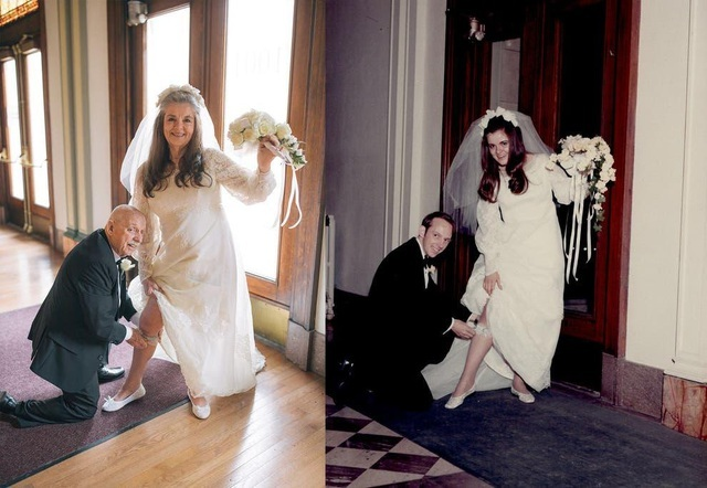 Ngưỡng mộ bộ ảnh cưới độc đáo của cặp vợ chồng U80 sau 50 năm kết hôn