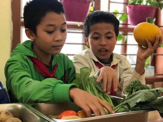 Học sinh thích thú khi giờ học là bắt sâu, là su hào, bắp cải, khoai tây…