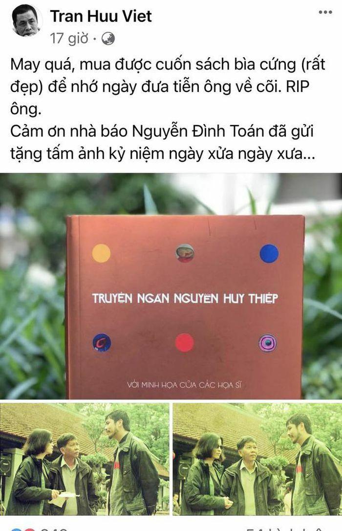 """Sách của nhà văn Nguyễn Huy Thiệp """"cháy hàng"""""""