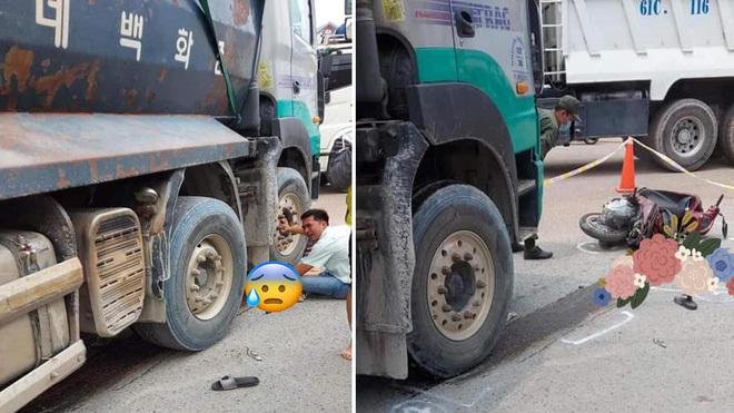 Quặn lòng cảnh người cha gào khóc đau đớn bên thi thể con trai 6 tuổi bị xe ben cán trúng