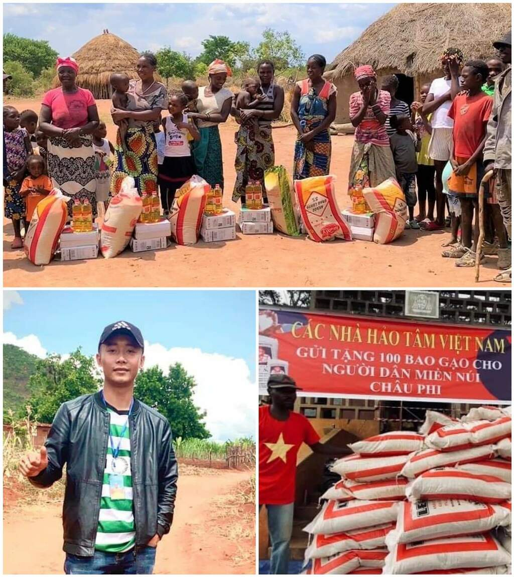 Chàng trai xứ Nghệ tiếp tục tặng 100 bao gạo cho người dân miền núi tại Châu Phi