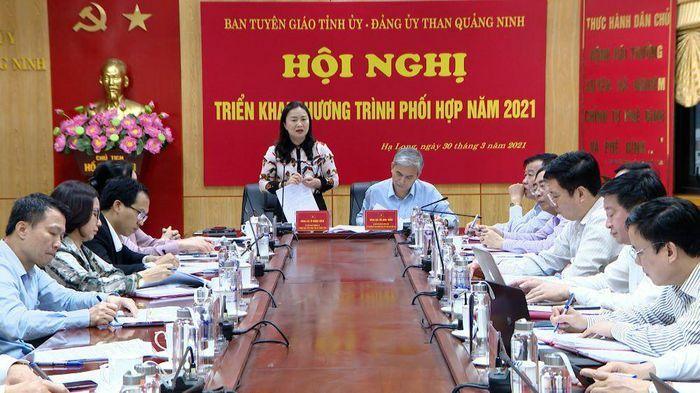 Ban Tuyên giáo Tỉnh ủy và Đảng ủy Than Quảng Ninh triển khai chương trình phối hợp năm 2021