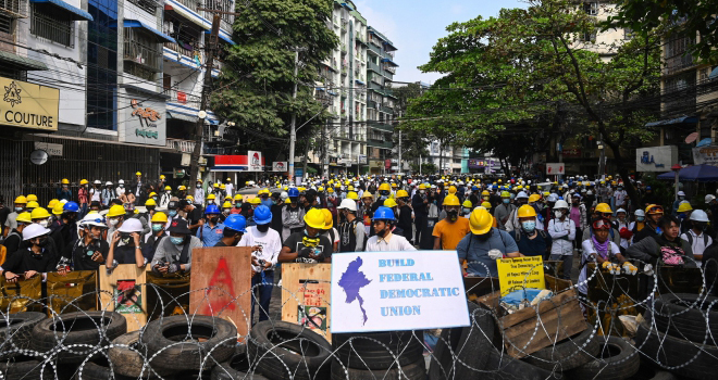 Tiếp diễn biểu tình tại Myanmar