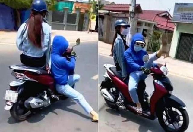 """Triệu tập thanh niên """"làm xiếc"""" khi lái xe máy trên đường"""