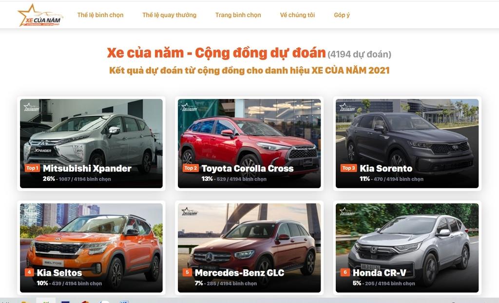 Xe của năm 2021: Nhiều người mong muốn Mitsubishi Xpander giành giải Xe của năm