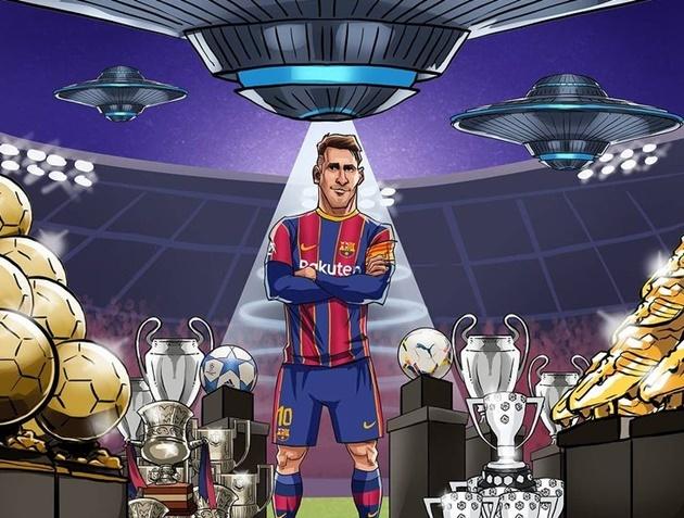 Cười té khói với loạt ảnh chế Messi phá kỷ lục Xavi