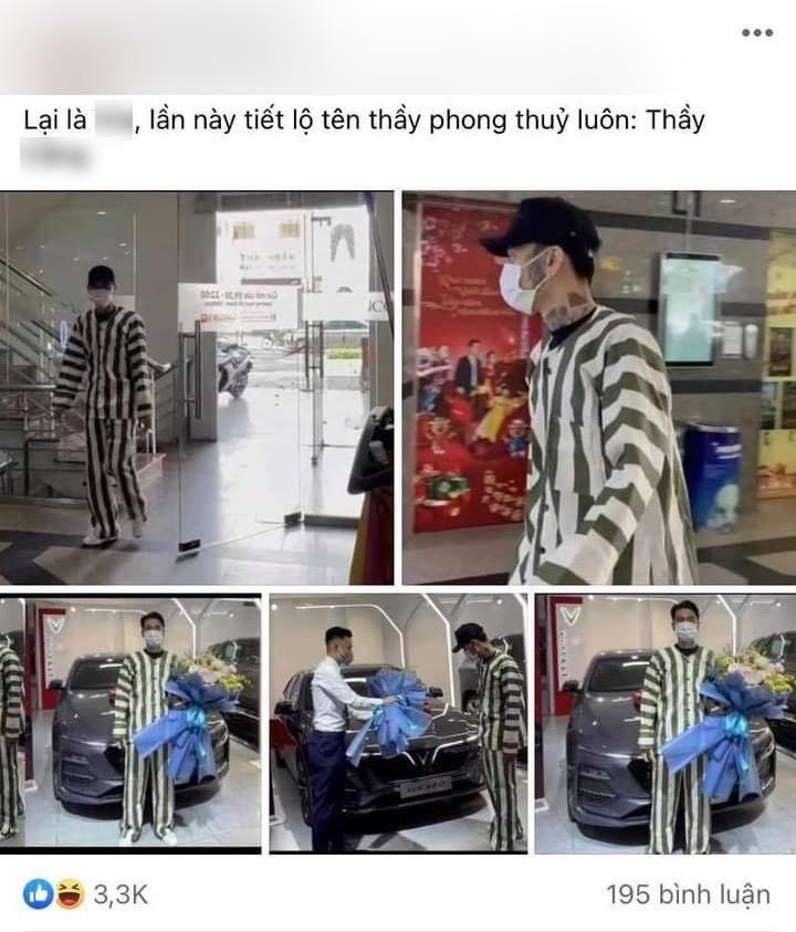 Sự thật về hình ảnh thanh niên mặc áo tù nhân đi nhận xe gây tranh cãi