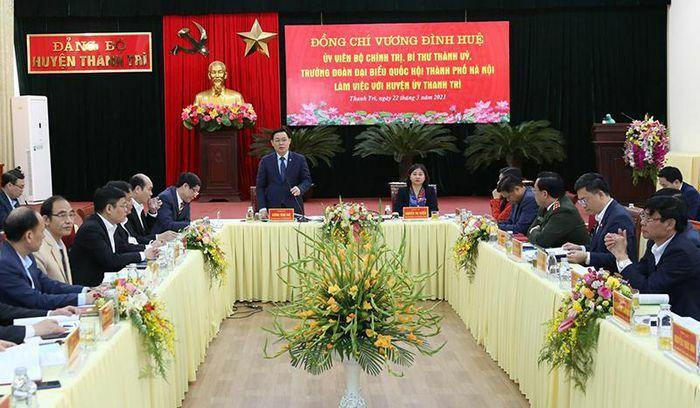 Bí thư Thành ủy Vương Đình Huệ: Tập trung cho các mục tiêu để Thanh Trì lên quận vào năm 2023