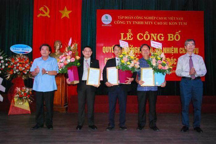 Cao su Kon Tum có Chủ tịch Hội đồng thành viên và Tổng Giám đốc mới