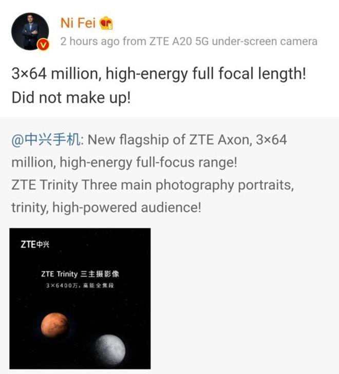 """Galaxy S21 Ultra sẽ phải lép vế trước điện thoại có 3 camera 64MP cực """"khủng"""" này"""
