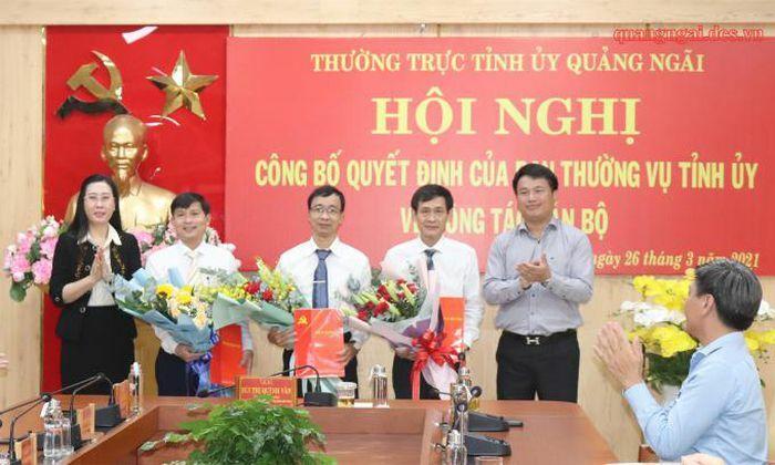 Ông Lê Văn Huy làm Chánh văn phòng Tỉnh ủy Quảng Ngãi