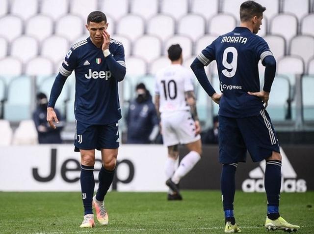 C.Ronaldo gây thất vọng, Juventus hứng chịu trận thua sốc
