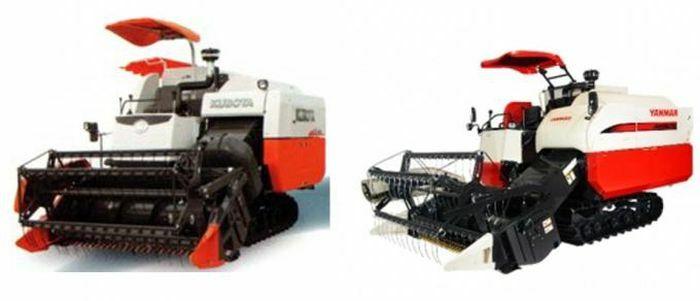 """""""Cuộc đua song mã"""" máy gặt đập liên hợp Kubota và Yanmar"""