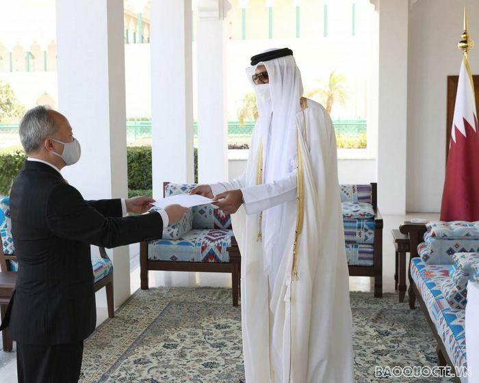 Đại sứ Trần Đức Hùng trình Ủy nhiệm thư lên Quốc vương Qatar