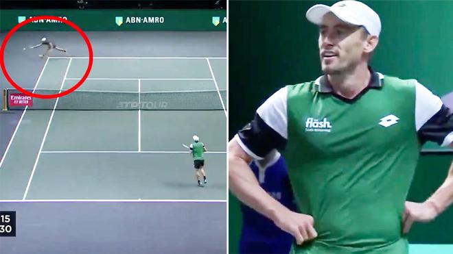 """SAO tennis vứt vợt xuống đất vì đụng phải """"người ngoài hành tinh"""""""