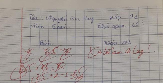 Chấm bài kiểm tra nhưng cứ cho điểm rồi lại gạch, cô giáo khiến học sinh chóng mặt nhưng đọc lời phê mới ngỡ ngàng