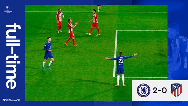 Chelsea hạ Atletico Madrid để vào tứ kết Champions League