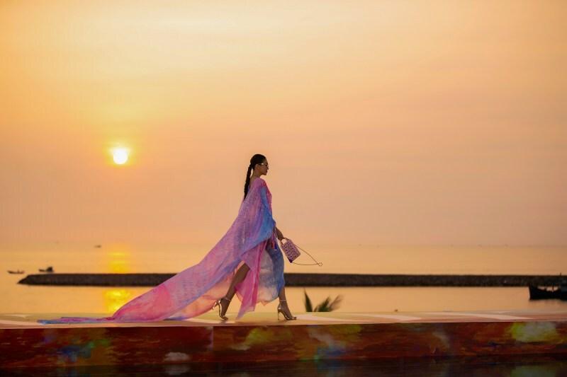 Biển Nam Phú Quốc trở thành chất liệu trong bộ sưu tập của NTK Adrian Anh Tuấn