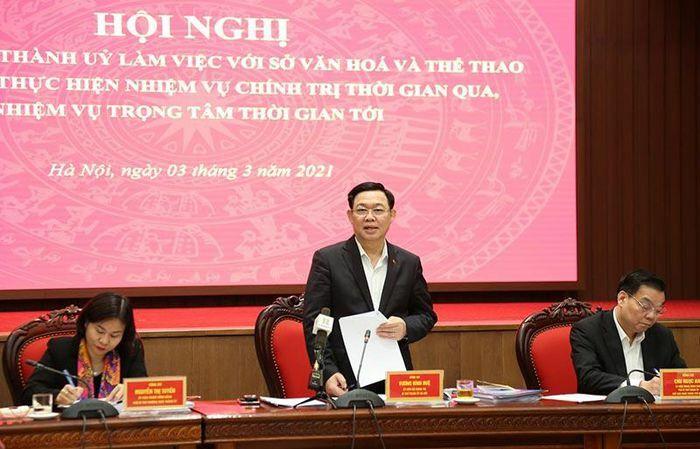 Bí thư Thành ủy Vương Đình Huệ: Xây dựng Hà Nội thực sự là trung tâm lớn về văn hóa của cả nước