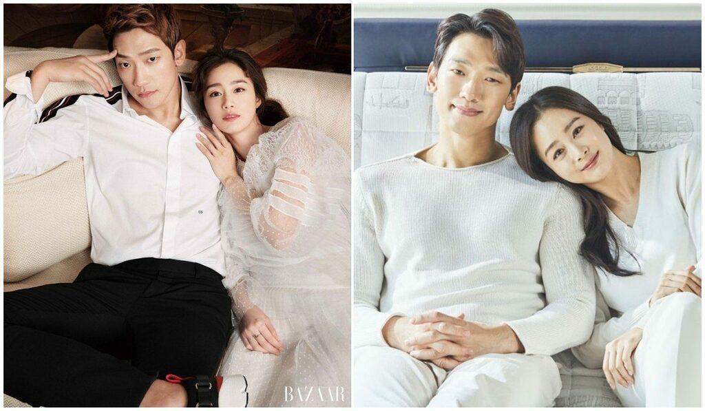 Chồng tập tành giữ phong độ, Kim Tae Hee phó mặc lão hoá đến tự nhiên