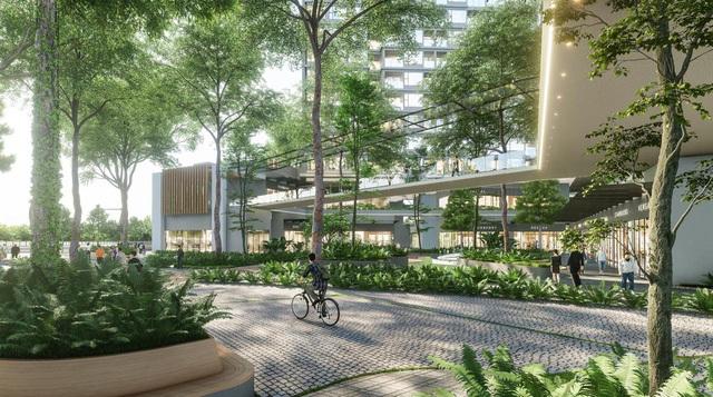 """Ecopark chi nghìn tỷ làm công viên cho 2 tòa tháp """"thiên nhiên"""" nhất khu đô thị"""