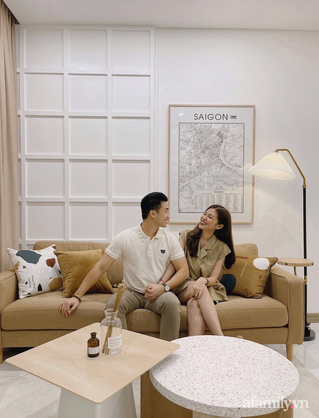Căn hộ 106m² gói trọn bình yên với tông màu trung tính hiện đại của vợ chồng trẻ Sài Gòn