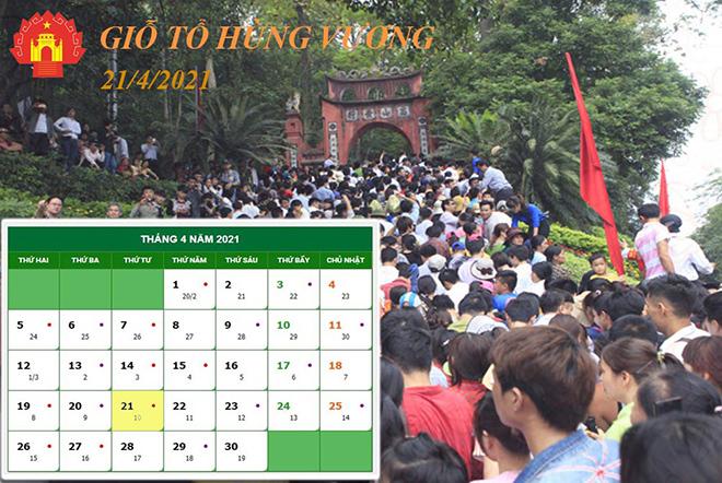 Nóng trong tuần:Giỗ tổ Hùng Vương, lễ 30/4 và 1/5 năm nay người lao động được nghỉ mấy ngày
