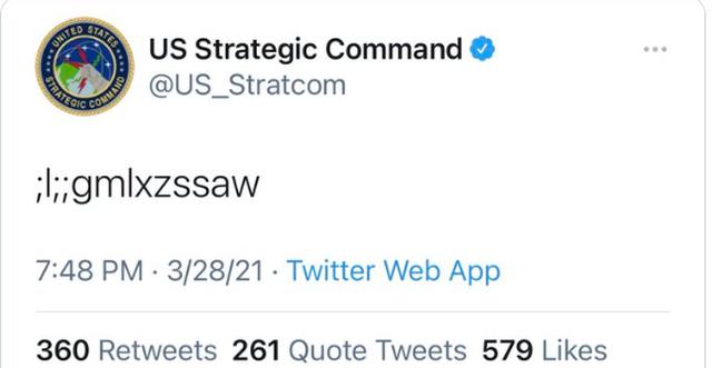 Bộ tư lệnh Mỹ lên tiếng về dòng tweet bí ẩn bị nghi là mã phóng hạt nhân